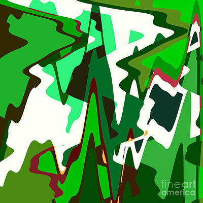 Royalty-Free and Rights-Managed Images - Green Abstract Squared #2 by Regina Geoghan