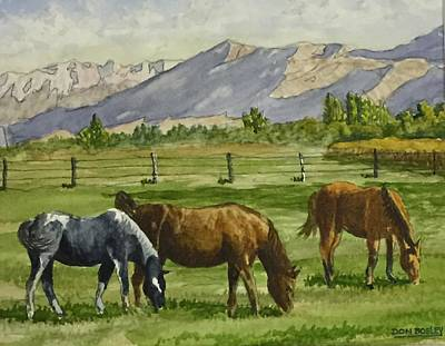 Painting - Green Acres by Don Bosley