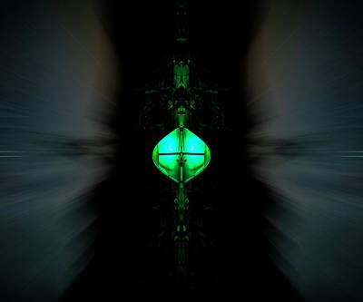 Green Alien Dude On A Speeder Art Print