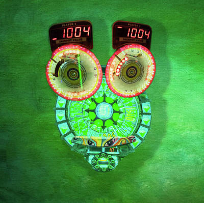 Photograph - Green Alien Owl by Steven Greenbaum