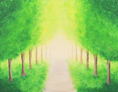 Painting - Green Alley by Iryna Goodall