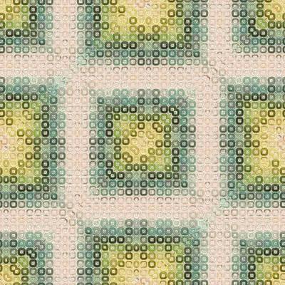 Digital Art - Green And Beige Modern Decor Design Pattern by Georgiana Romanovna