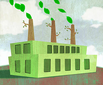 Childs Future Digital Art - Green And Clean by Steve Dininno