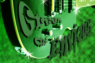 Photograph - Green And Envious Guitar by Cathy Beharriell