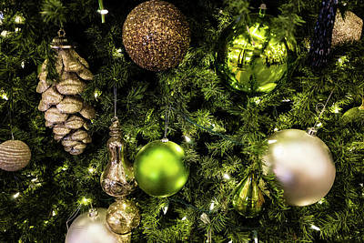 Photograph - Green And Gold Christmas by M G Whittingham