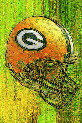 Quarters Mixed Media - Green And Gold by Jack Zulli