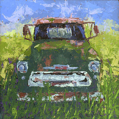 Painting - Green And Out by David King