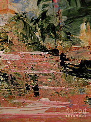 Painting - Green And Pink Abstract by Nancy Kane Chapman