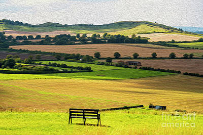Photograph - Green And Pleasant Land by Chris Thaxter