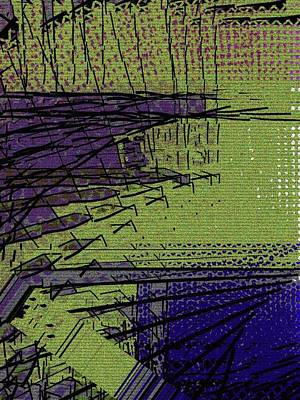 Green And Purple Field Art Print