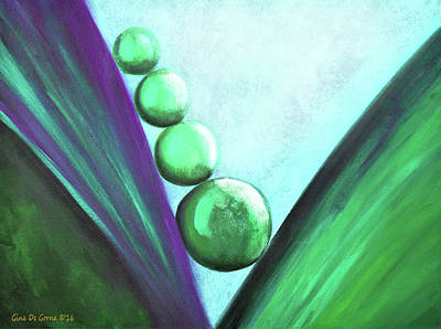 Painting - Green And Purple by Gina De Gorna