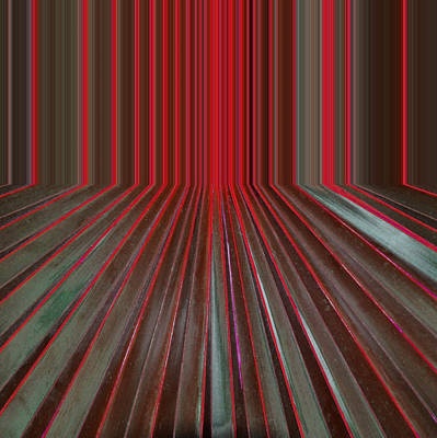 Digital Art - Red Room by Michelle Calkins
