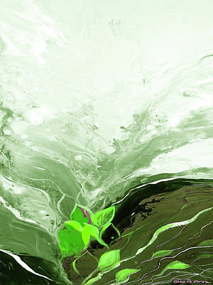 Painting - Green And Silver by Gina De Gorna