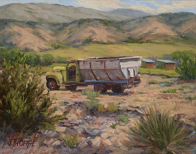 Painting - Green And Silver Truck by Jane Thorpe
