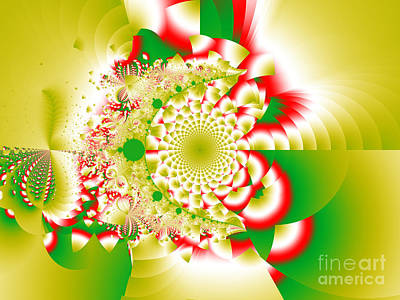 Green And Yellow Collide Art Print