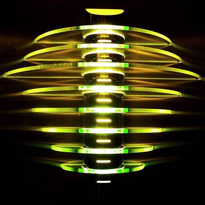 Green And Yellow Light Reflectors Art Print