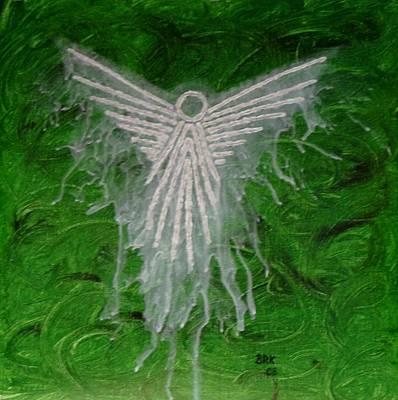 Green Angel Art Print by Bo Klinge