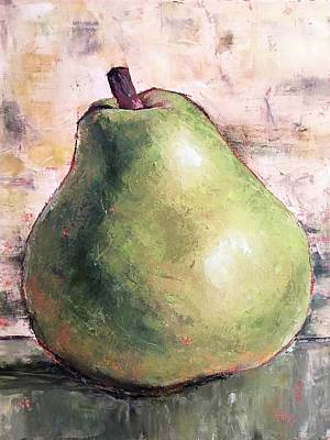 Painting - Green Anjou Pear by Pam Talley