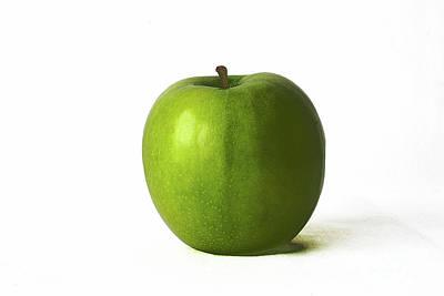 Photograph - Green Apple by Alan Harman