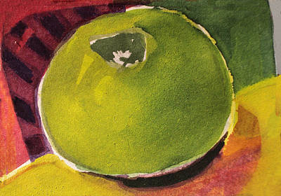 Painting - Green Apple by Diane Ursin