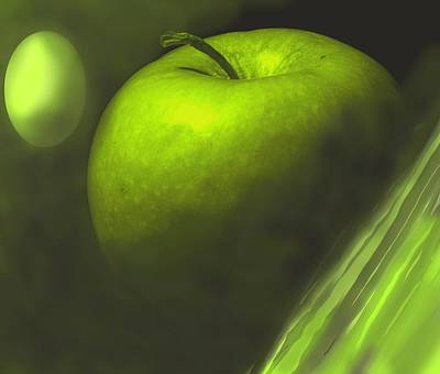 Photograph - Green Apple Drama by Ian  MacDonald