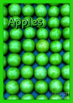 Photograph - Green Apple Poster by Joan-Violet Stretch