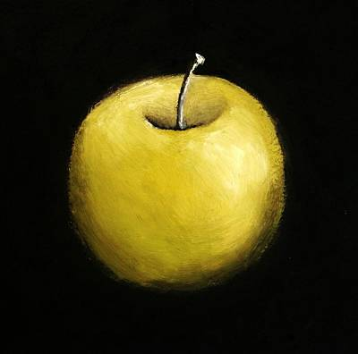 Painting - Green Apple Still Life 2.0 by Michelle Calkins