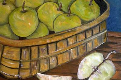 Green Apples Art Print by Leslie Spurlock