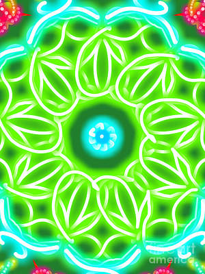 Luminous Drawing - Green Aura by Marie Ward-Alonge