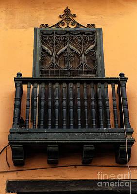 Photograph - Green Balcony In Cartagena by John Rizzuto