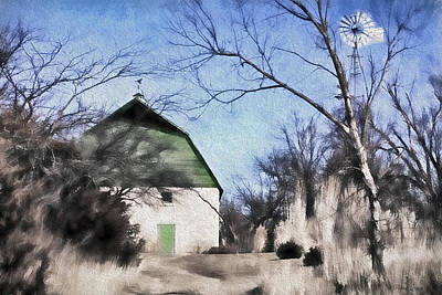 Photograph - Green Barn by Anna Louise