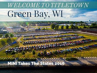 Photograph - Green Bay Evening 1 W/text by That MINI Show