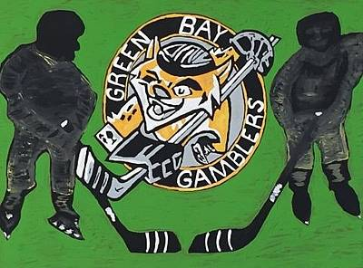 Hockey Games Drawing - Green Bay Gamblers by Jonathon Hansen