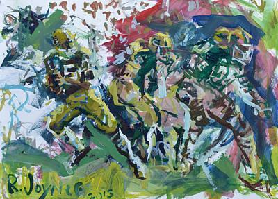 Painting - Green Bay Packers Artwork by Robert Joyner