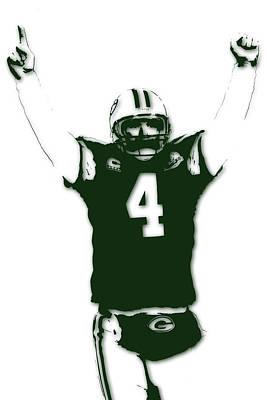Green Bay Packers Bret Favre 3 Art Print by Joe Hamilton