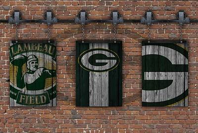 Photograph - Green Bay Packers Brick Wall by Joe Hamilton