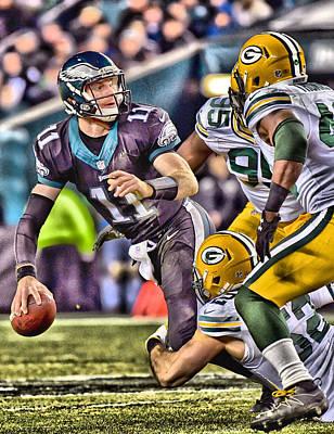 Mixed Media - Green Bay Packers Defense 1 by Joe Hamilton