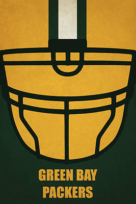 Football Painting - Green Bay Packers Helmet Art by Joe Hamilton