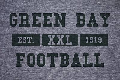 Green Bay Packers Retro Shirt Art Print