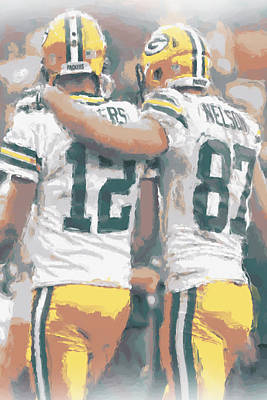 Green Bay Packers Rodgers Nelson Art Print by Joe Hamilton