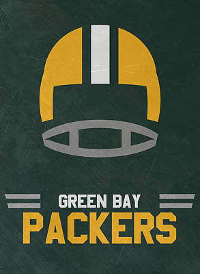 Team Mixed Media - Green Bay Packers Vintage Art by Joe Hamilton