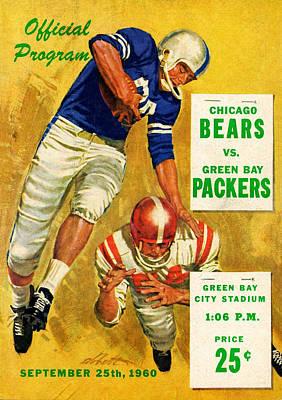 Green Bay Packers Vintage Program 2 Art Print
