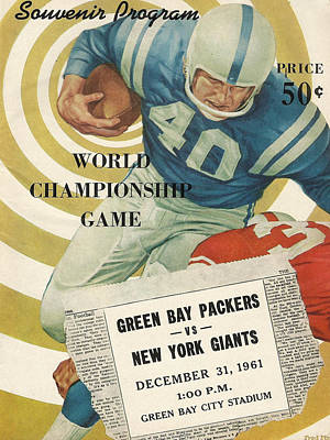 Green Bay Packers Vintage Program 5 Art Print by Joe Hamilton