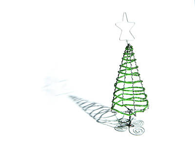 Green Bead Christmas Tree II Art Print