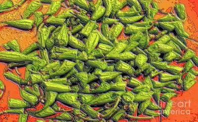 Green Bean Tips Art Print by Ron Bissett