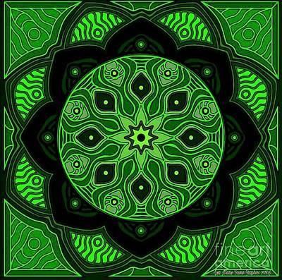 Wall Art - Digital Art - Green Beauty by Lisa Marie Towne