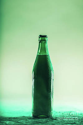 Beer Royalty-Free and Rights-Managed Images - Green beer bottle. St. Patricks Day by Michal Bednarek