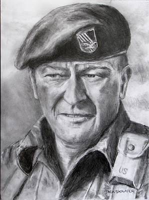 Drawing - Green Beret by Jack Skinner