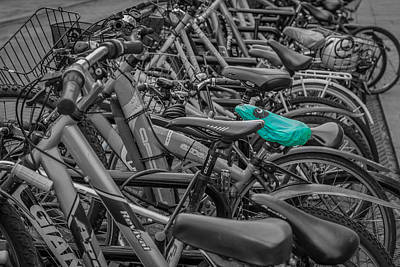 Photograph - Green Bike Saddle by David Warrington