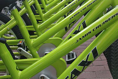 Photograph - Green Bikes by Denise Mazzocco
